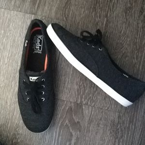 Keds Charcoal Ortholite Shoes 9